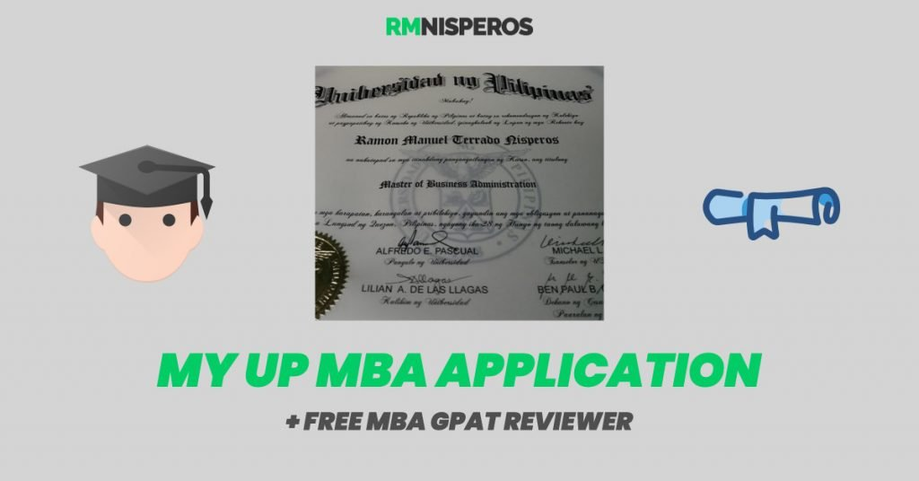up mba application