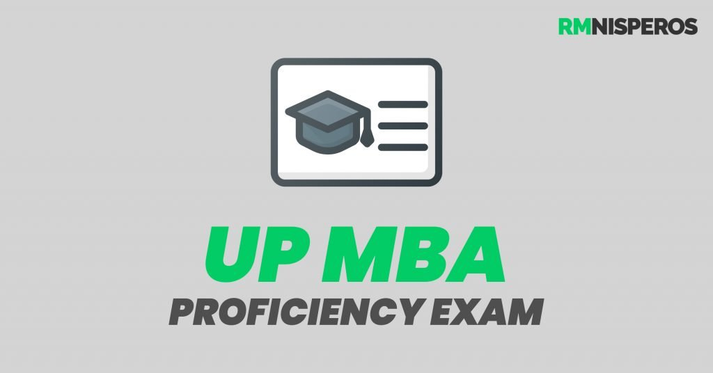 UP MBA Proficiency Exam Reviewer